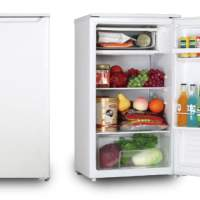 Single-door refrigerator VOV VRF-90W, Brand New, Retail 119€, White and Silver